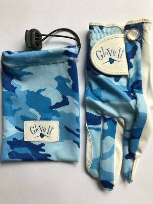 Glove It Junior Niñas Golf Guante. Azul Camuflaje Talla M