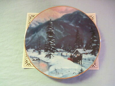 Thomas Kinkade THE JOURNEY HOME Collector Plate With Certificate