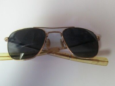 Vintage A.O. American Optical Aviator Sunglasses w/ condition issues 1/10 12k GF