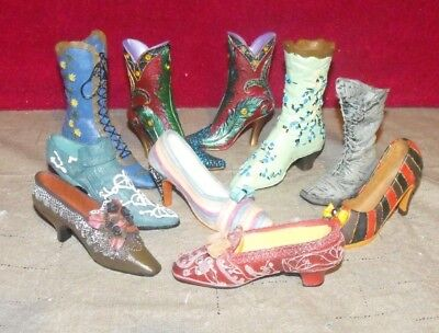 LOT of 10 DECORATIVE COLLECTIBLE SHOES NICE LOT