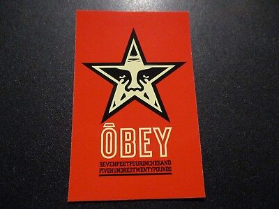 "SHEPARD FAIREY Obey Giant Sticker 2.5X3.75"" Red Star Andre OG from poster print"