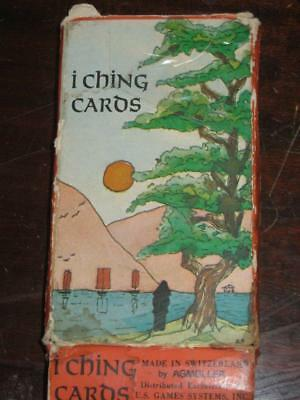 I Ching Cards Deck AGMuller Switzerland Vintage 1971 Well Used / No Coins