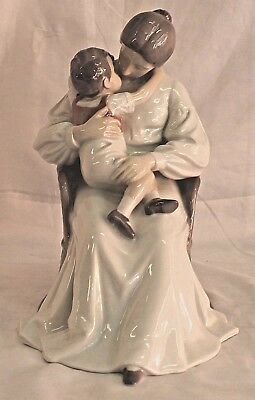 Bing & Grondahl B&g Denmark Figurine Mother & Child In Chair #1552 Large