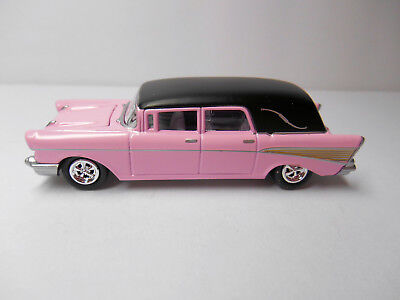 Classic Pink 1957 Chevrolet Bel Air Funeral Hearse Wrrs By Johnny