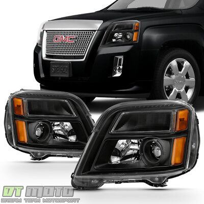 Black 2010 2011 2012 2013 2014 2015 GMC Terrain Headlights Headlamps Left+Right