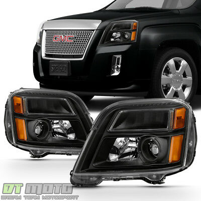Black 2010-2015 GMC Terrain Headlights Headlamps Light Left+Right 10 11 12 13 15
