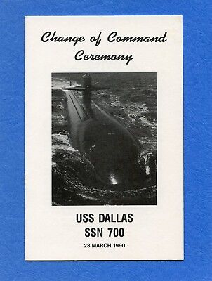 Submarine USS Dallas SSN 700 Change of Command Navy Ceremony Program #2
