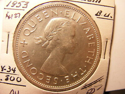 Southern Rhodesia 1953 Silver Crown, One Year Type Coin, UNC