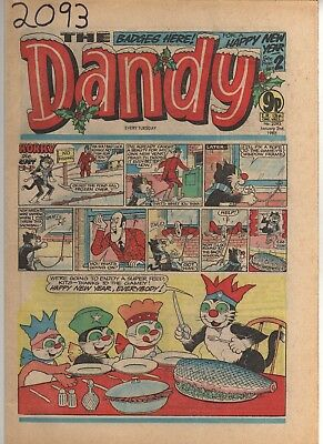 THE DANDY No 2093 JANUARY 2nd 1982 GOOD TO FAIR CONDITION