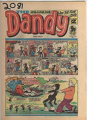 THE DANDY No 2081 OCTOBER 10th 1981 GOOD TO FAIR CONDITION