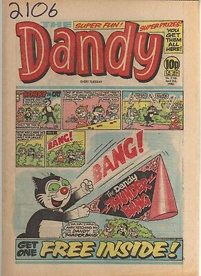 THE DANDY No 2106 APRIL 3rd 1982 GOOD TO FAIR CONDITION