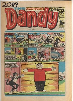 THE DANDY No 2089 DECEMBER 5th 1981 GOOD TO FAIR CONDITION