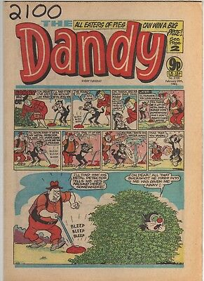 THE DANDY No 2100 FEBRUARY 20th 1982 GOOD TO FAIR CONDITION