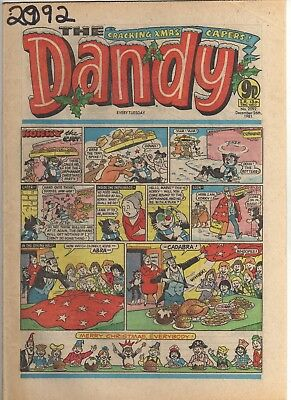 THE DANDY No 2092 DECEMBER 26th 1981 GOOD TO FAIR CONDITION