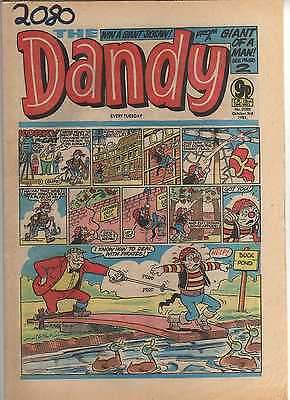 THE DANDY No 2080 OCTOBER 3rd 1981 GOOD TO FAIR CONDITION