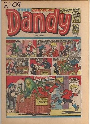 THE DANDY No 2109 APRIL 24th 1982 GOOD TO FAIR CONDITION