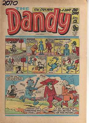 THE DANDY No 2070 JULY 25th 1981 GOOD TO FAIR CONDITION