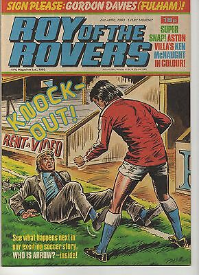ROY OF THE ROVERS 2nd APRIL 1983 EXCELLENT CONDITION