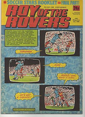 ROY OF THE ROVERS 25th MAY 1985 EXCELLENT CONDITION