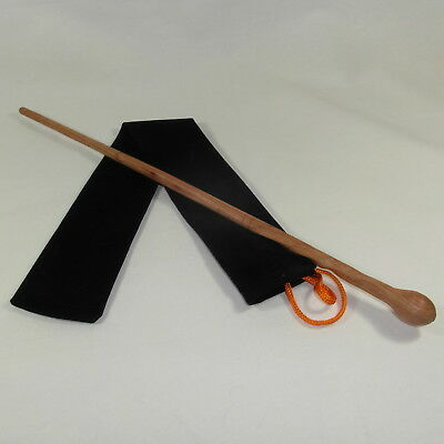 """16"""" Lupin Hand Turned and Carved Mahoe Wood Magic Wand Witch Wizard w/Velvet Bag"""