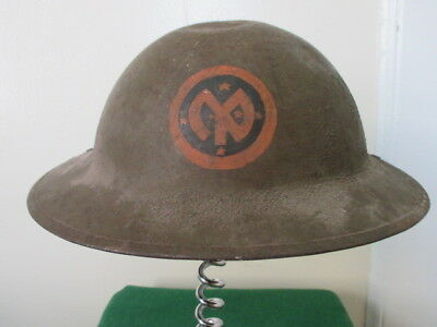 WWI US 27th INFANTRY DIVISION M1917 MK.1 BRODIE HELMET..SOMME BATTLEFIELD RELIC