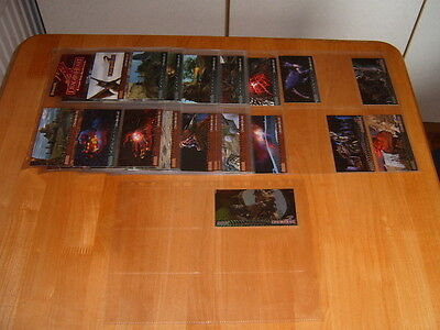 Set of 72 Topps Widevision Dragon Heart trading cards + 4 dracofoil chase cards