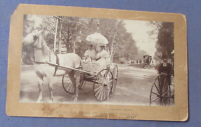 Antique 1895 Cheshire Grange Fair Keene Nh Coaching Parade Photo As Is