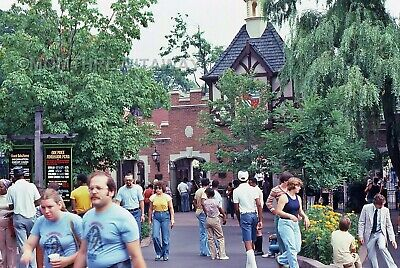 1979 COLOR SLIDE 1648 PA Hersheypark View of Entrance Admission Prices Sign