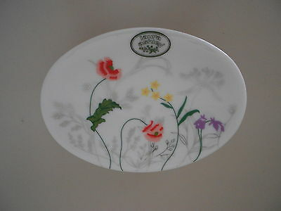 Laura Ashley May Garden Floral Soap Dish Wild Flowers White Pink Purple  New