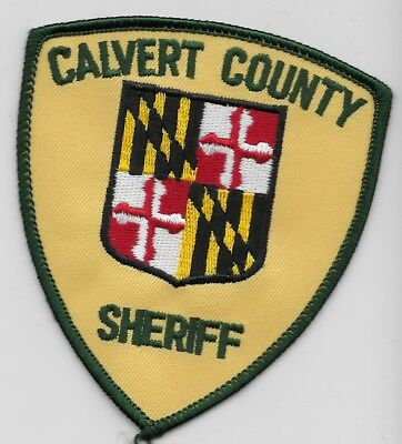 Calvert County Sheriff State Maryland MD patch Different version
