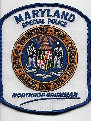 Northop Gruman Special Police State Maryland MD NEAT Rare patch