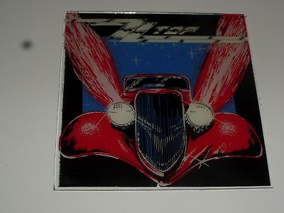 Vintage Carnival Giveaway Reverse Painted Glass Mirror-ZZ Top