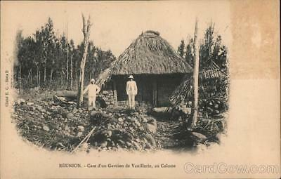 Reunion Island Saint-Andre Case of a Vanillerie Guardian,Colosse Postcard E.C.