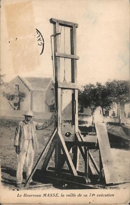 New Caledonia Guillotine,Executioner MASSE,the Eve of his 74th Execution