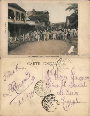 Reunion Island Saint-Denis Mascarades for Mardi Gras Postcard L. Angelin