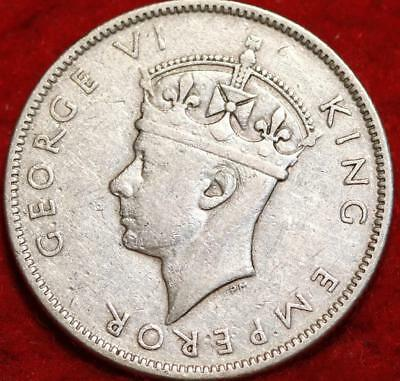 1942-S Fiji One Silver Florin Foreign Coin