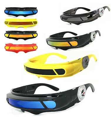 0600fda963 Space Robot Alien Party Costume Cyclops Futuristic Wrap Robot Sunglasses  Robocop