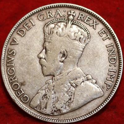 1929 Canada 50 Cents Silver Foreign Coin