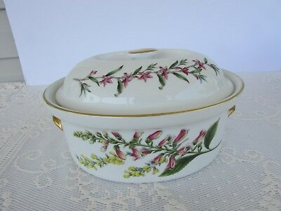 SPODE Stafford Flowers 2 Quart Oval Covered Casserole Oven to Table