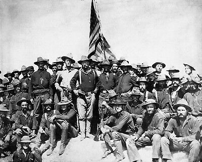 Theodore Teddy Roosevelt Rough Riders Calvary 11 x 14 Photo Photograph Picture