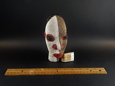 Original Shop The Winding Road Cameroon African Beaded Head Volcanic Ash Clay
