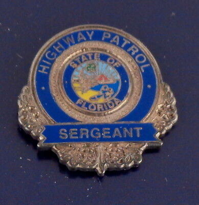 Florida FL Highway Patrol SERGEANT mini badge LAPEL PIN FLHP (state police) SGT