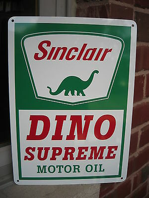 Sinclair Gasoline Dino Supreme Motor Oil Gas Station Sign