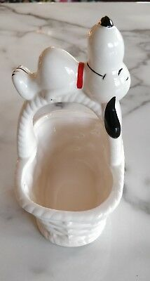 Vintage Snoopy Collectible Basket ornament.