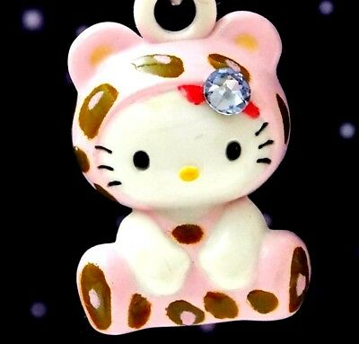 Hello Kitty X Leopard Baby Swarovski Elements Crystals Japan Pendant Charm