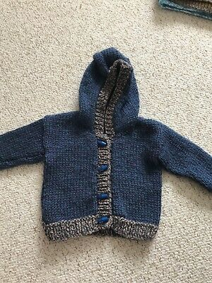 NEW Hand Knitted Cardigan New Baby 6-12 Mths Gift Boy's Girls Clothing BNWOT