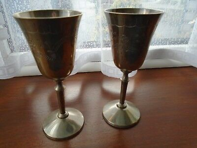 Vintage silver plated small goblets
