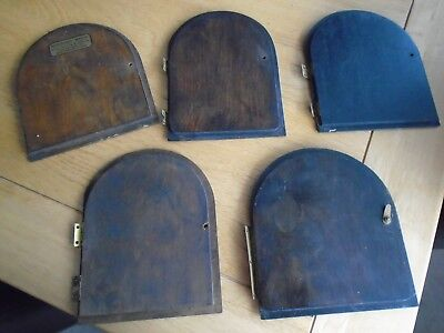 5 vintage Wooden Clock Doors  from mantel clocks parts spares restoration