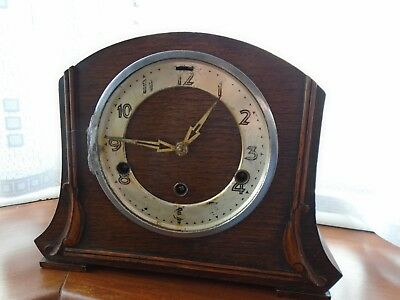 Vintage Westminster Chime Mantle Clock with Key