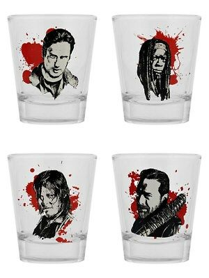 The Walking Dead Characters Set Of Shot Glasses